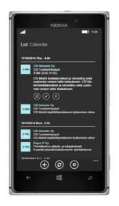 CSI Mobiili 2015 Selausnäkymä
